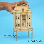 Georgian DOLLHOUSE FOR DOLLHOUSE WITH TABLE UNFINISHED 1:144 scale -Top Quality