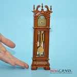 Victorian Traditional Grandfather Clock Working for dollhouse miniature 1:12 scale