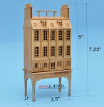 Townhouse DOLLHOUSE FOR DOLLHOUSE WITH TABLE PINE 1:144 scale -Top Quality