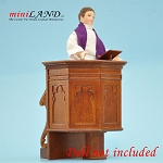 Pulpit for a church or a court  Walnut High quality for dollhouse miniature 1:12 scale