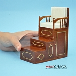 BLACK FRIDAY SALE - pulpit Minbar steps chair mimber mosque imam for dollhouse miniature 1:12 scale - limited edition
