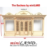 The Duchess - Quality wooden store front facade  1:12 scale roombox dollhouse miniature UF