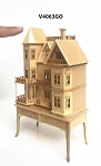 Queen Anne style dollhouse for dollhouse OAK for 1:12 dollhouse miniature (1:144 scale)