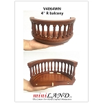 Big Wooden Romeo and Juliet round balcony 4