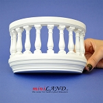 Wooden Romeo and Juliet round balcony 3
