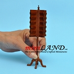Tall STORE POSTCARD STAND UNIT  Dollhouse miniature 1:12 scale WALNUT