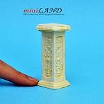 Pedestal French Ivory WA1003IV  for dollhouse miniature 1:12 scale