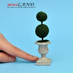 "Topiary Triangle 3-5/8""H  for dollhouse miniature 1:12 scale"