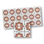 Mosaic Floor Tiles for dollhouse miniature 1:12 scale - one sheet
