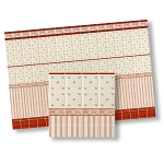 Mediterranean Wall Tiles wallpaper for dollhouse miniature 1:12 scale - one sheet