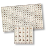 Delft Wall Tiles for dollhouse miniature 1:12 scale - one sheet