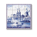 Picture Mosaic Tile Sheet  for dollhouse miniature 1:12 scale - one sheet