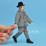 x060 Heidi Ott Dolls House Doll, Tall Man with Grey Hair