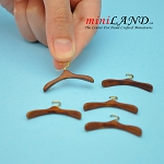 Wooden Clothes hanger 5pcs High quality for dollhouse miniature 1:12 WN
