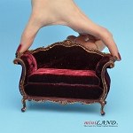 Victorian Sofa for dollhouse miniature 1:12 scale Y4500 MHG