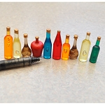 Dollhouse Miniature Wine  Bottles Shop Pub Bar Drinks Accessory 10pcs