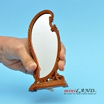 Victorian Floor mirror for dollhouse miniature 1:12 scale walnut