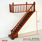 RIGHT Quality Staircase set with railings 1:12 Scale  for 9