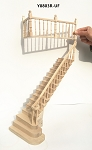 UNFINISHED RIGHT Quality Staircase set with railings 1:12 Scale  for 9