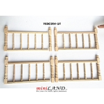 High quality wood railing 4pcs set for 1:12 dollhouse miniature unfinished
