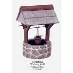Outdoor beautiful Wishing Well Fieldstone for 1:12 dollhouse miniature Polyresin