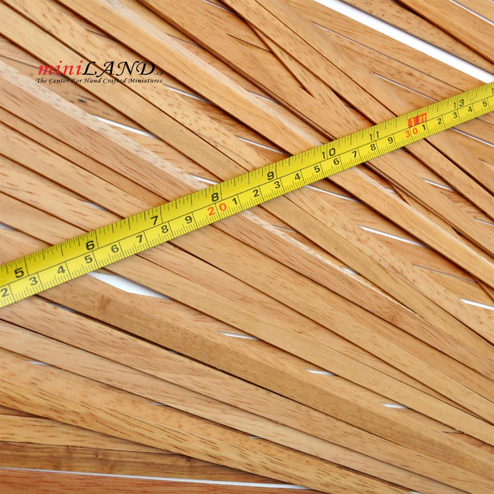 Top Quality 50 Strips Hardwood Dollhouse Floor Cover 19.5