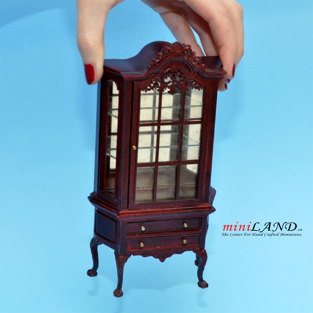Dollhouse Miniature Unfinished 1:24 HALF Scale Glass Front Display Counter