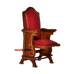 Miniature SINGLE THEATER CHAIR dollhouse cinema 1:12 red leather