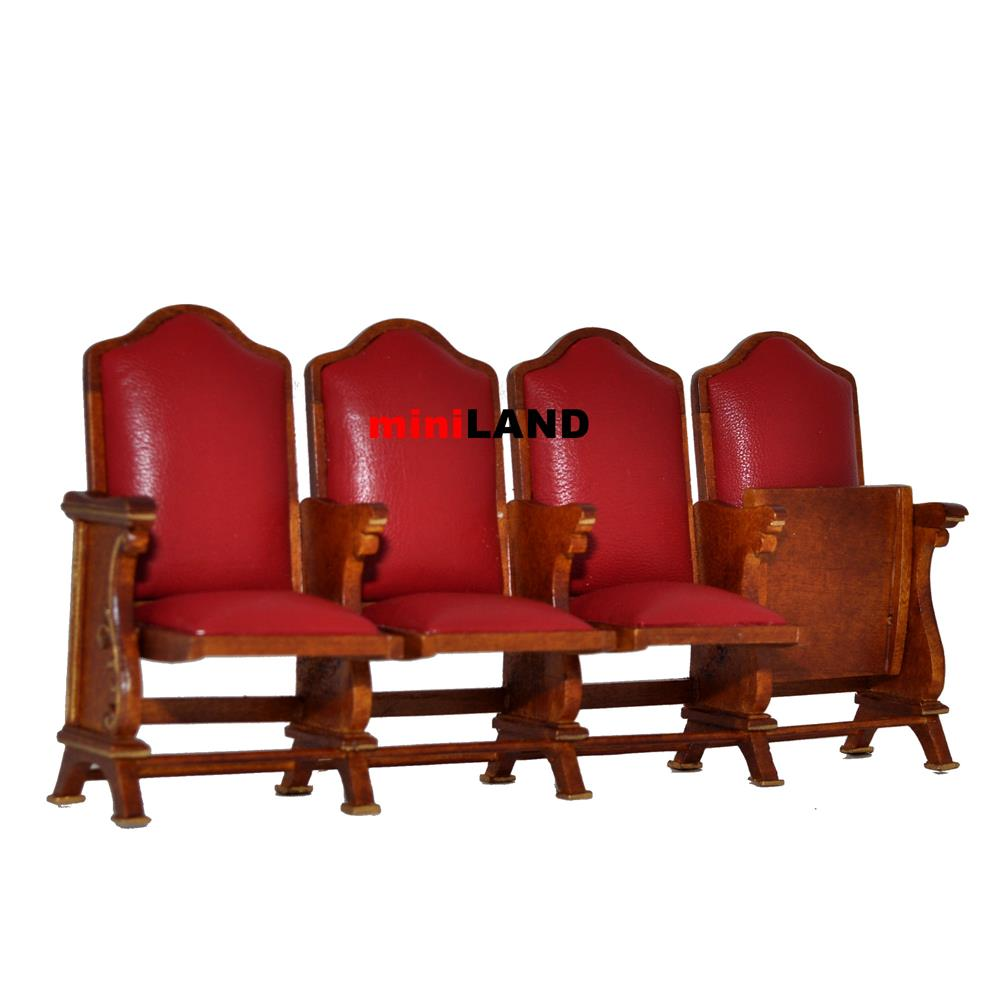 Miniature quad seats THEATER CHAIR dollhouse cinema
