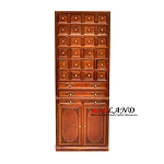 Store haberdasher Drawer Unit Walnut Dollhouse miniature 1:12 Quality tea shop 1900 line