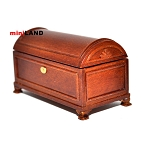 Humpback Chest dollhouse miniature 1:12 scale walnut wood