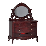 Vanity Table dresser bedroom 1:12 dollhouse miniature drawers mirror wood MH