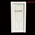 Stannford Decorated Single Door dollhouse miniature 1:12 White