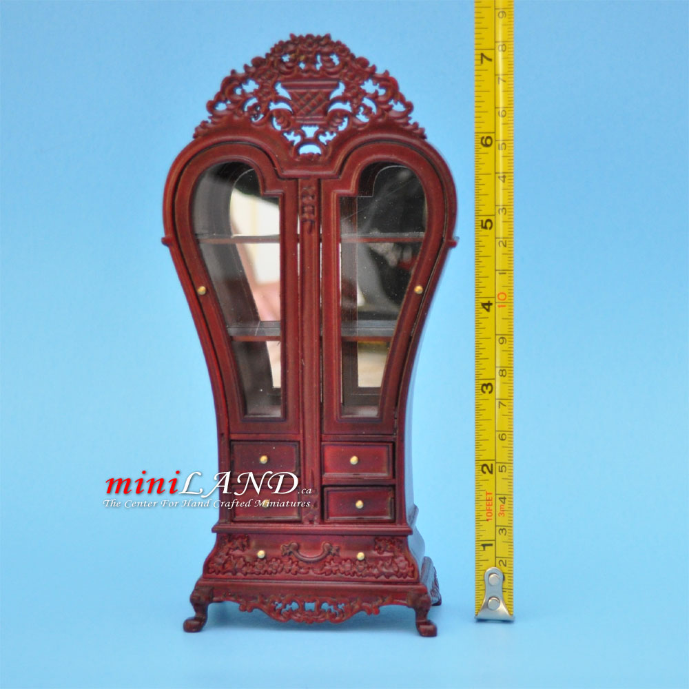 Heart Display Royal France Cabinet Wood Mh Dollhouse