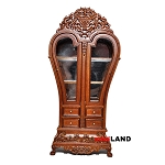 Heart Display Royal France Cabinet wood WN dollhouse miniature 1:12