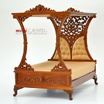 Luxurious Canopy Bed For DollHouse 1:12 Scale Miniature