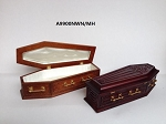 Coffin wood top Dollhouse miniature 1:12 scale fit Heidi Ott dolls funeral