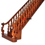 Quality center Baroque staircase 1:12 Scale Miniature Wooden dollhouse stair WN