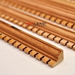 Dental Crown Molding dollhouse miniature trim 5pc 50cm x 10x7mm Hardwood Oak 1:12 scale