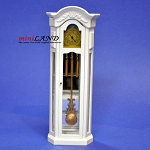 Clearance sale NonWorking Grandfather Clock 1:12 WHITE