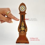 Working Dollhouse Miniature Grandfather Clock WN V4010D-NWNG
