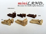 Quality Cobbler Shoe Lasts set 3 pairs Dollhouse Miniature 1:12 MW Dark color