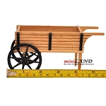 Wooden Wheel Barrow Stall Flowers / vegetables store shop display 1:12 scale