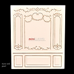 Extra Wide panel - Royal Paneling line White  1:12 scale