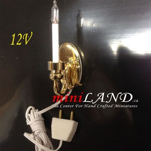 Clearance SALE Candle Wall Sconce lamp 12v dollhouse miniature1:12 light