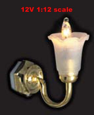 Clearance SALE tulip Sconce wall Lamp12v dollhouse miniature1:12 light
