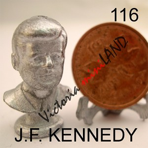 "J.F. KENNEDY BUST 7/8""H DIY metal miniature for dollhouse - Do it yourself"