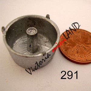 "ANGEL CAKE PAN 1/2""H unfinished DIY metal miniature for dollhouse - Do it yourself"