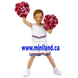 Laxi - Resin Doll for 1:12 Dollhouses  cheerleader