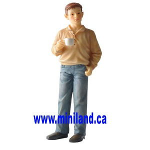 Ross - Resin Doll for 1:12 Dollhouses